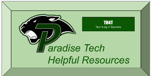 Panther Logo with link to helpful resources for tech.
